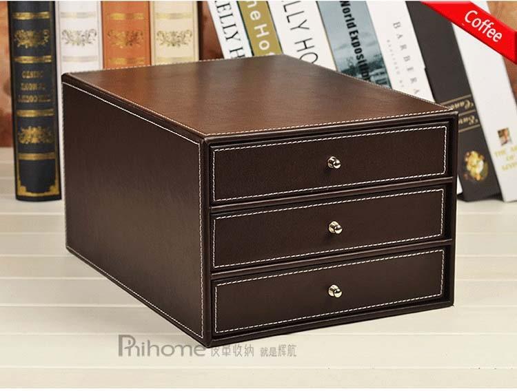 3 Tier Desktop Storage Box Office Filing Tray File Cabinet Document Rack  Desk Organizer With 3