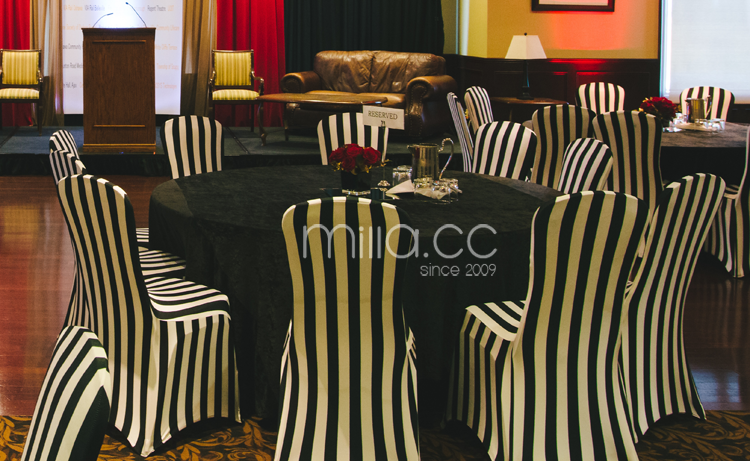 Black And White Stripe Spandex Chair Cover Buy Cheap