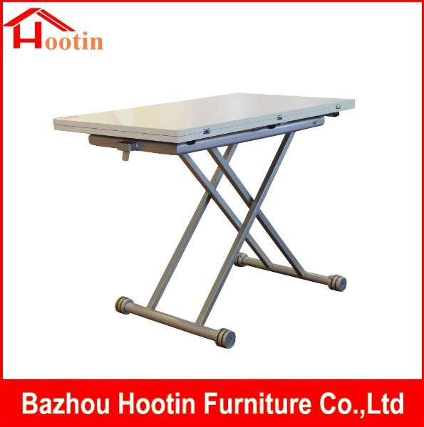 Popular Elegant Extendable Square High Quality Adjustable Hight Good Price Movable Dining Table