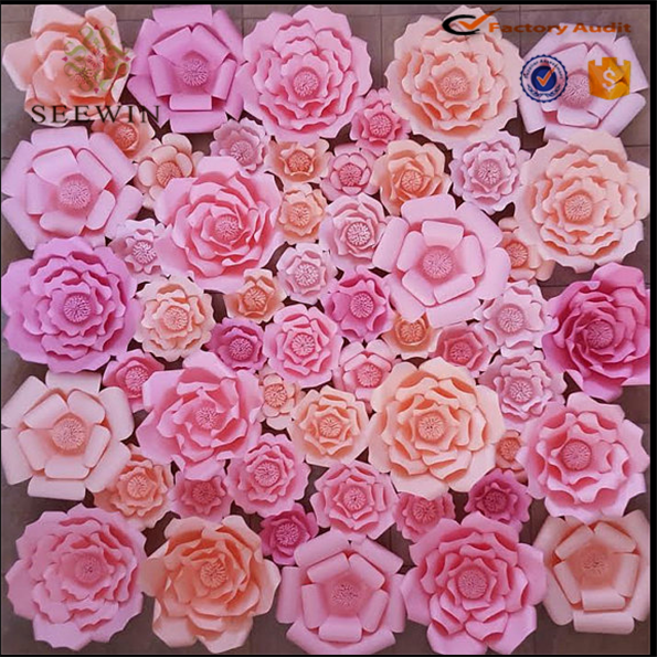 Wholesale High Quality Artificial Paper Tissue Flower For Wall ...