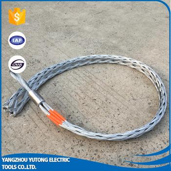 Single Eye Double Weave Cable Pulling Grip Wire Mesh Socks - Buy ...