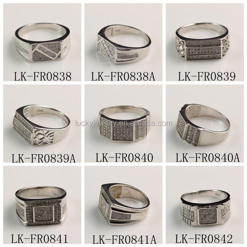 White Gold Finger Gay Ring Rings Design For Men With Price - Buy ...