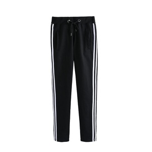 printed custom strip long men's trousers work pants with drawstring Sweatpants