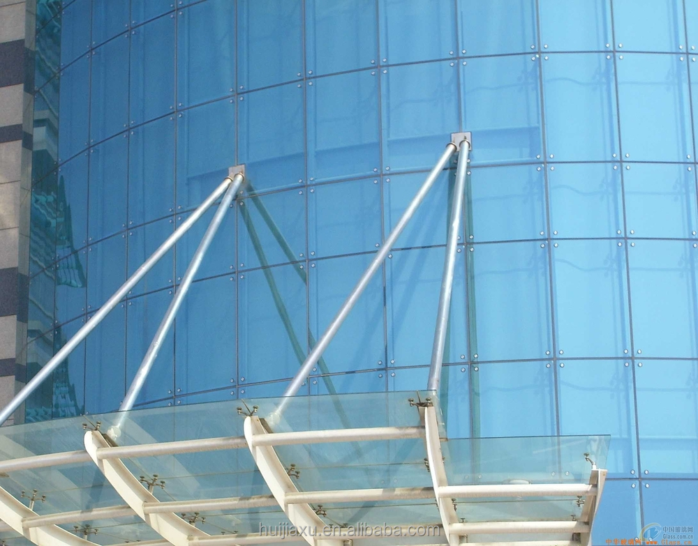 Customized Aluminum Profile Double Tempered Glass Curtain Wall ...