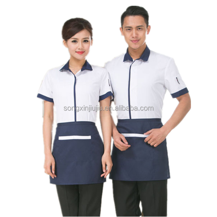 Cheap restaurant hotel waitress design server uniform