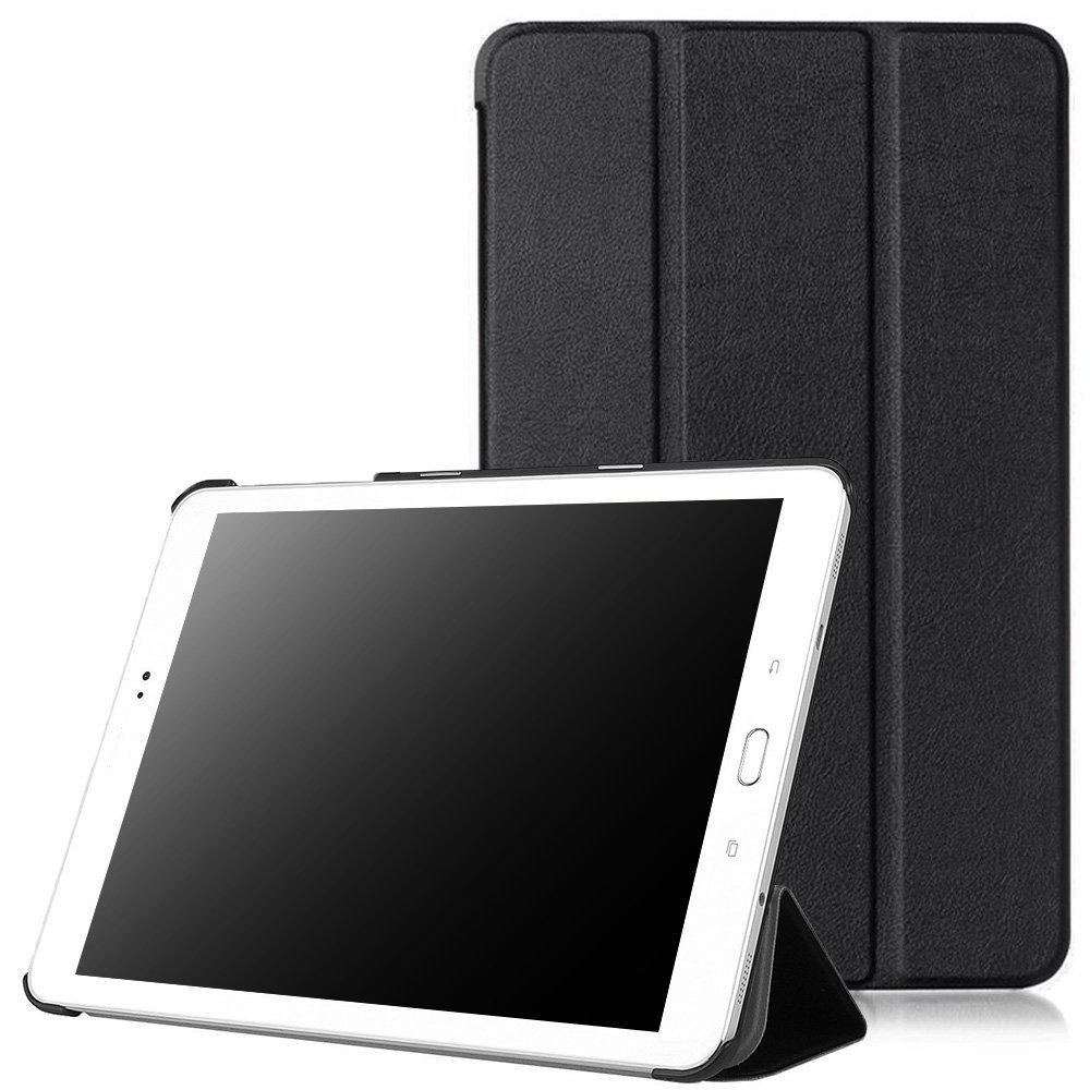 Tab E 8.0 Case, Samsung Galaxy Tab E 8.0 Cases Cover - Pasonomi® Ultra Slim Lightweight PU Leather Folio Case Stand Cover for Samsung Galaxy Tab E 8.0 4G LTE SM-T377V Tablet (Black)