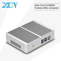 XCY low price Core I3 5005U dual core 8G RAM 64G hard disk X86 Ubuntu Mini PC cheap mini server computer