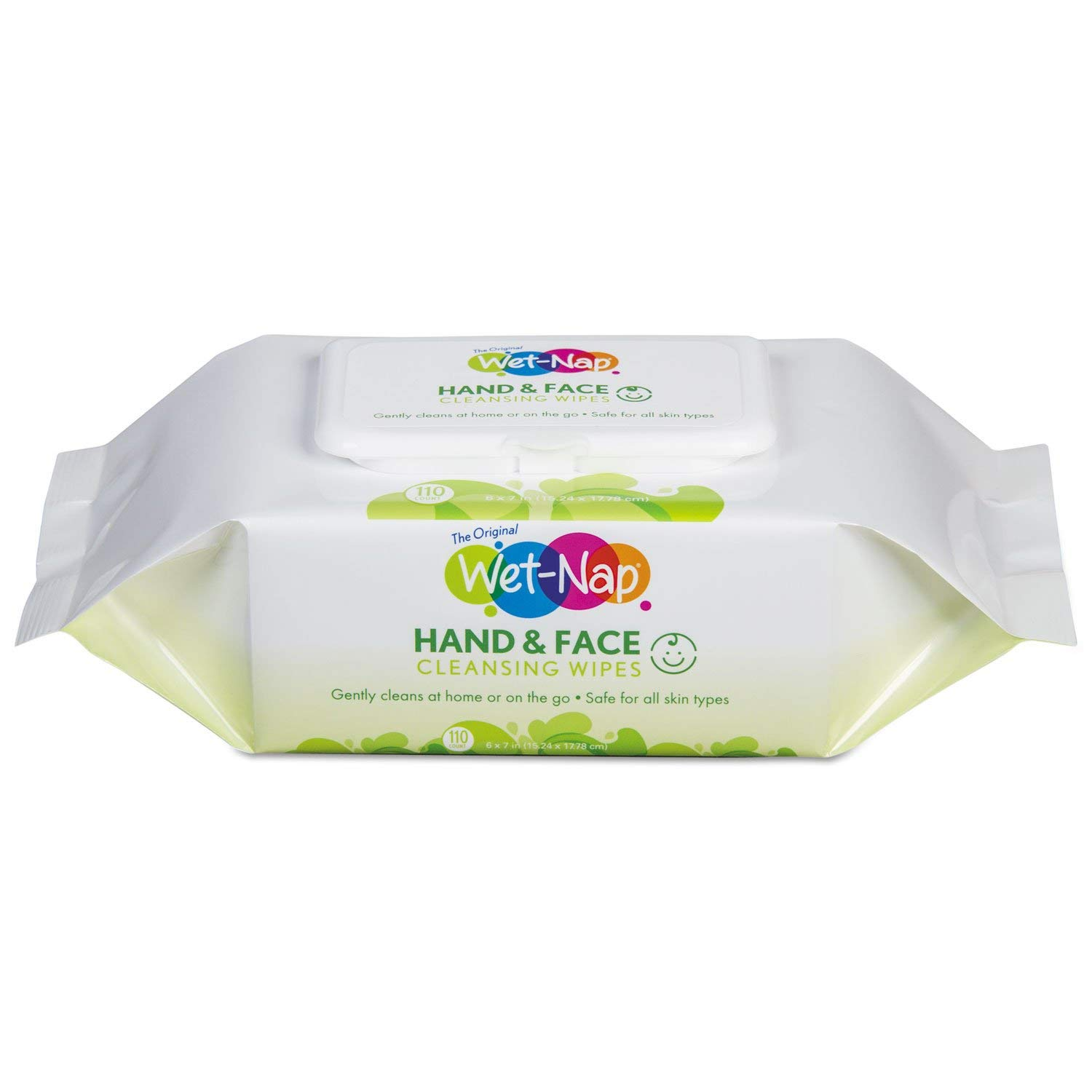 Wet-Nap M970SHCT Hands and Face Cleansing Wipes, 7 x 6, White, Fragrance-Free, 110/Pk, 6 Pk/Ctn