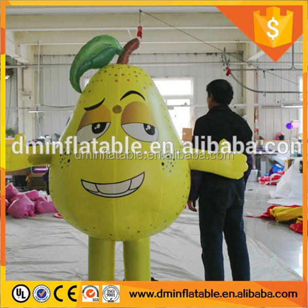 2016 giant inflatable pear cartoon for advertising replicas inflatable pear