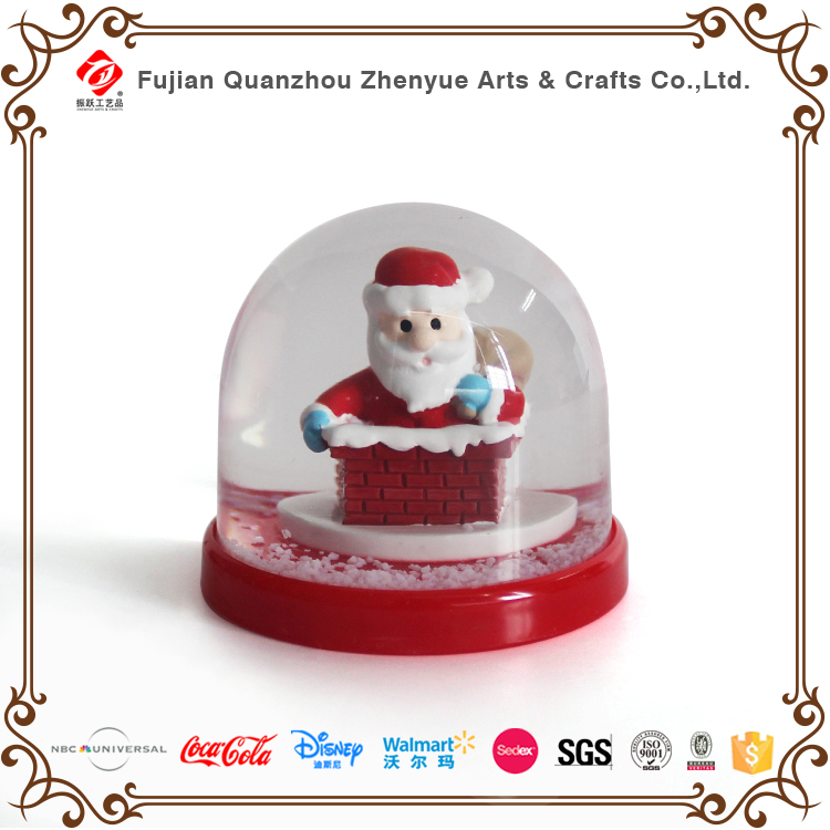 Santa Claus Family Decorated High Quality Resin Christmas Plastic Snow globe