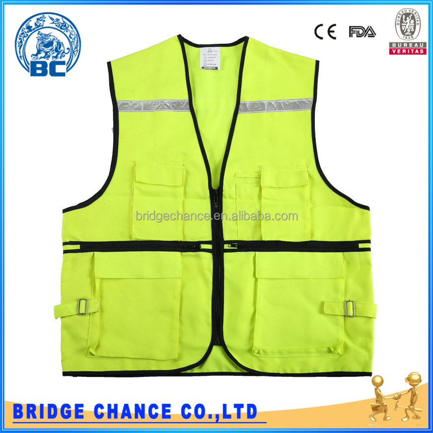 New Style Construction Work Safety Reflective Vest With Pocket