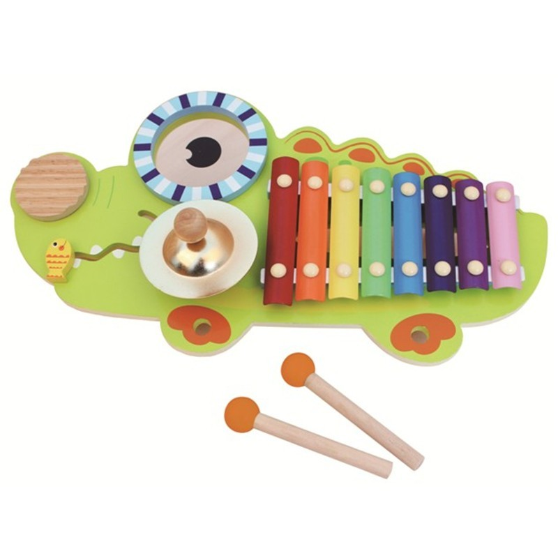 Cartoon Design Wooden Percussion Piano Music Instrument toy for Kids