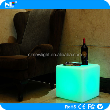 illuminated led furniture cube chairlight up outdoor pe material led cube led glowing seat