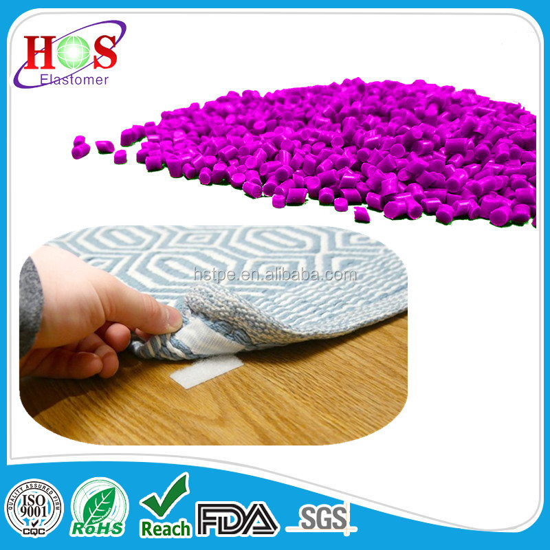 replacing carpet gel foam latex backing thermoplastic TPE Pellets