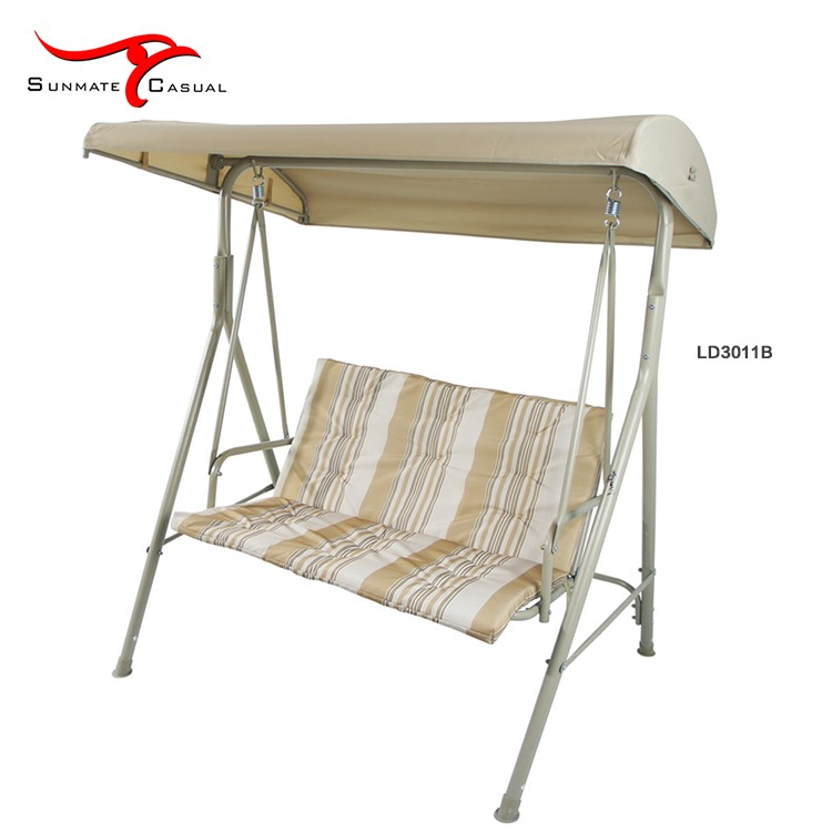 Outdoor Swing Seat Covers Double Steel Hanging Chairs Garden Swing Chair Bed