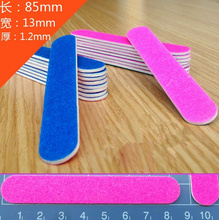 Sandpaper nail file wood chip Polished Nail File Nail Art stickers essential Nail tools wood+Cosmetology sandpaper 8.5*1.3cm