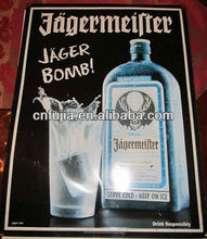Jagermeister promotion/advertisement tin sign,metal plate
