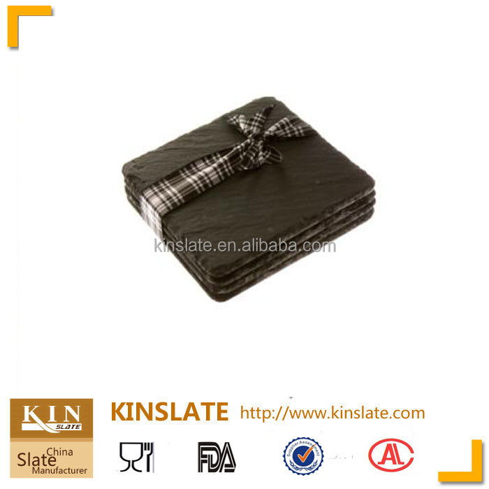 Wholesalers black rectangle slate coaster with reliable quality manufacturer