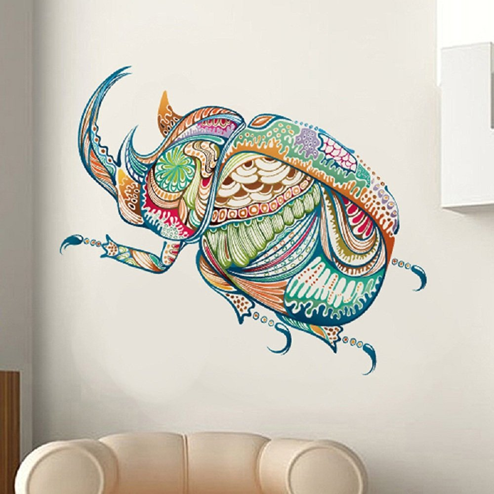 Buy LiveGallery Cute Cartoon Colorful Beetle Wall Stickers ...
