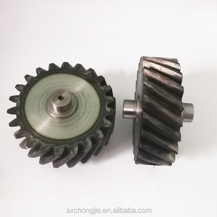 100% Inspection custom steel material right hand spiral spur helical bevel idler gear