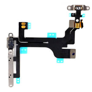 No defective quality with factory price for iPhone 5C Power Flex Cable Mute Switch Volume Buttons With Brackets & Flash