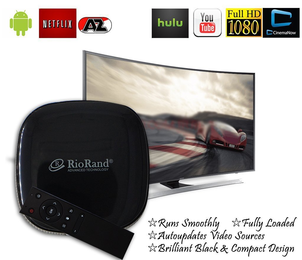 RioRand TV Box and Streaming Media Player including a HDMI Cable and OTA Online Update Supported