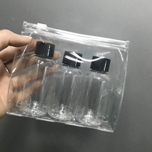 Portable Clear Transparent Waterproof Plastic PVC Travel Cosmetic Bag Makeup Organizer Pouches Tote Bag with binding