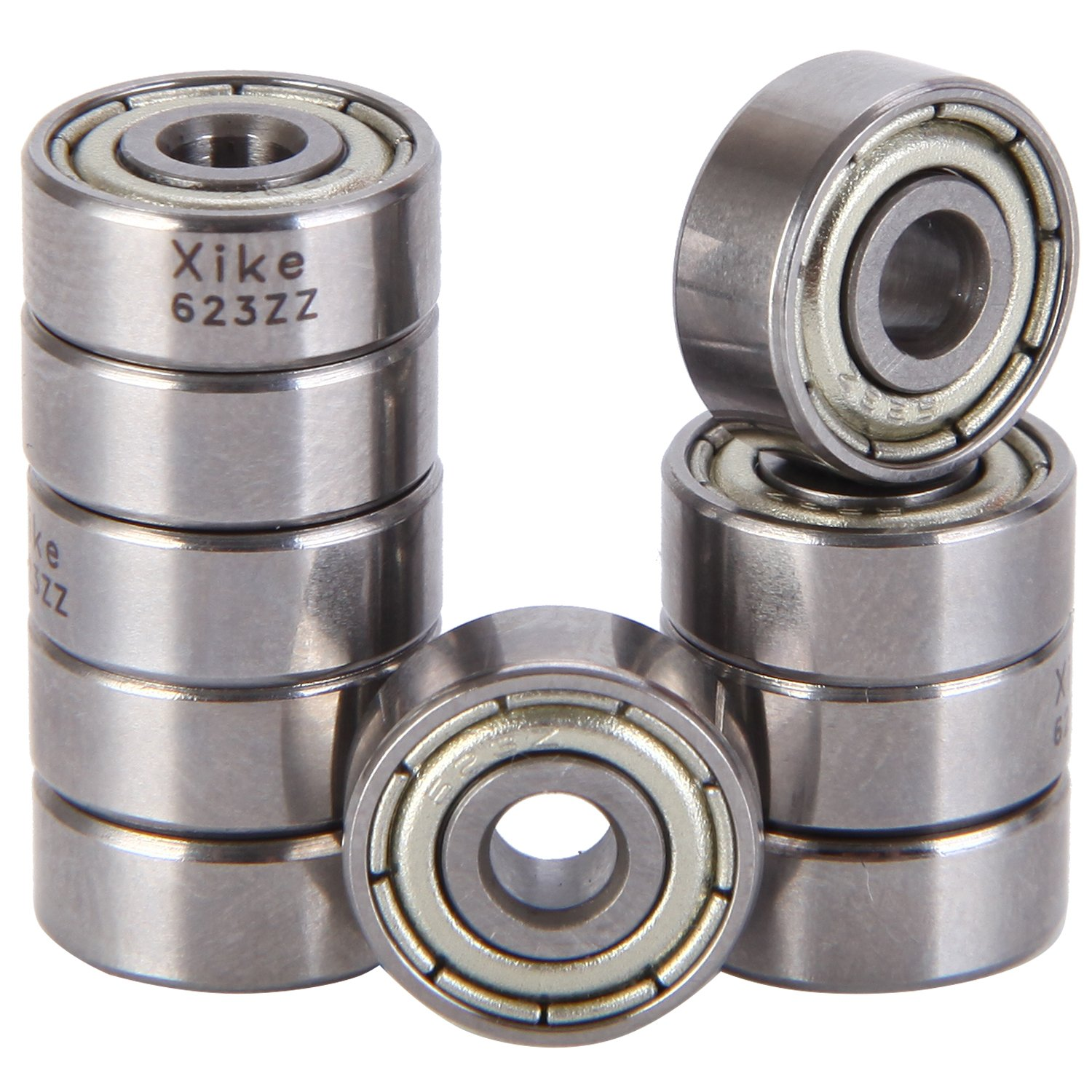 XiKe 10 Pack 6002-2RS Precision Bearings 15x32x9mm Rotate Quiet High Speed and