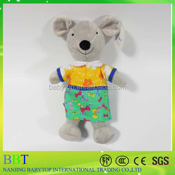 Stuffed Mouse Plush Toy Mouse Plush Christmas Mouse Toy Grey Mouse