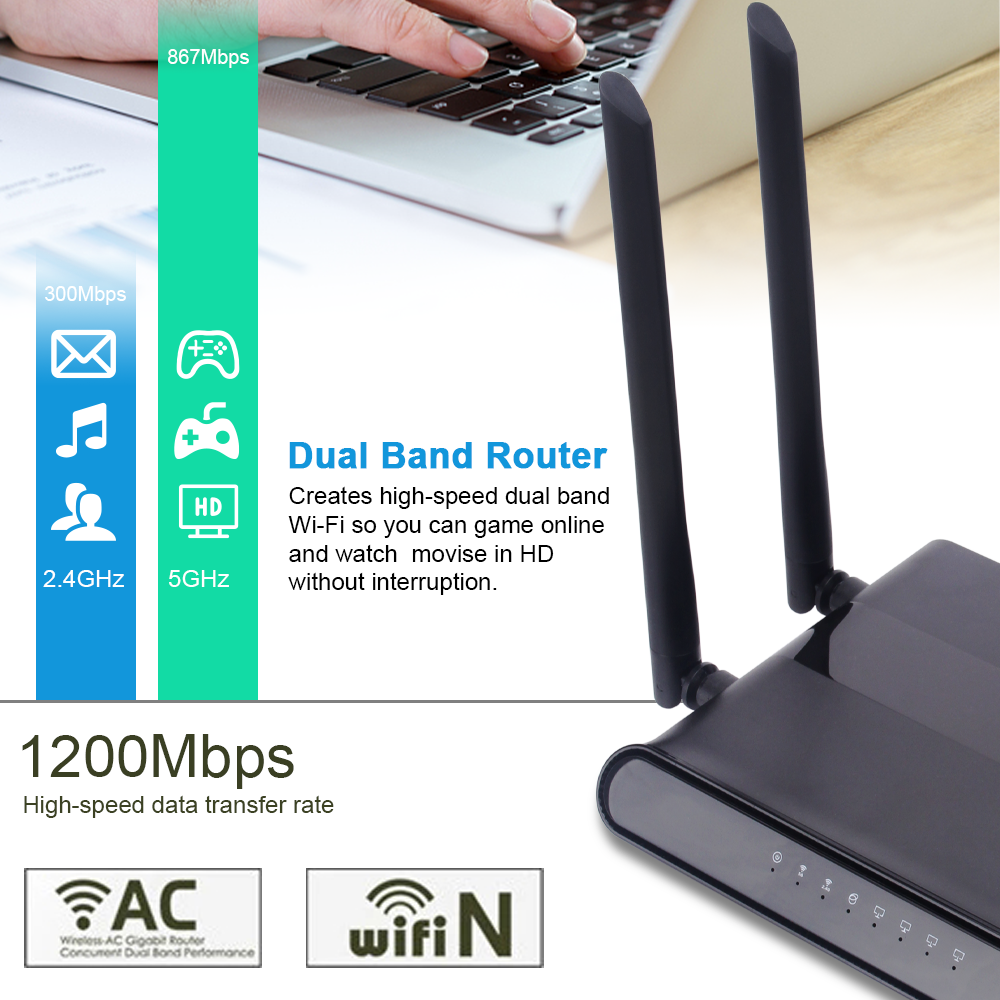 zbt 2.4/5ghz ac wireless dual band wifi router gigabit oem odm routers