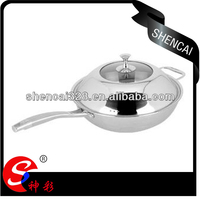 32cm,34cm Induction available stainless steel 304 tri-ply cookware 18/8 frying pan