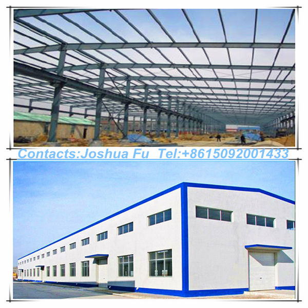 large space prefabricated steel structure warehouse