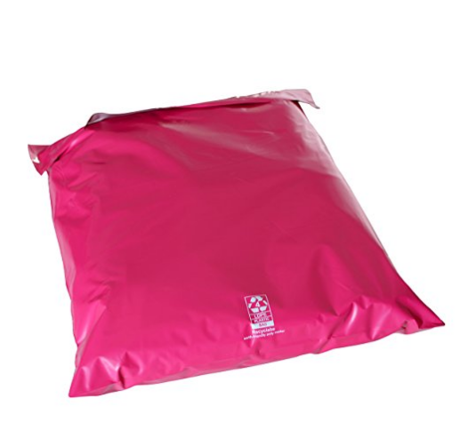 10 x 13 Hot Custom Pink Poly Mailer Envelopes with Self Adhesive
