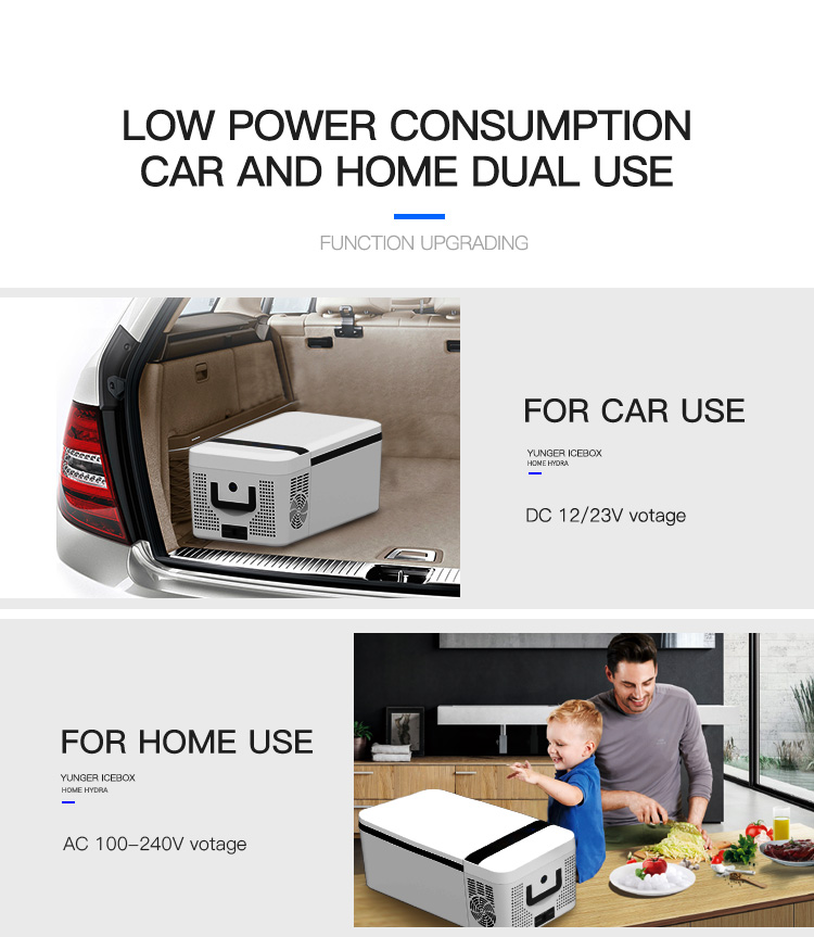 American hot selling car refrigerator dc 12v24v 15L portable car refrigerator cooler warmer/portable cooling fridge