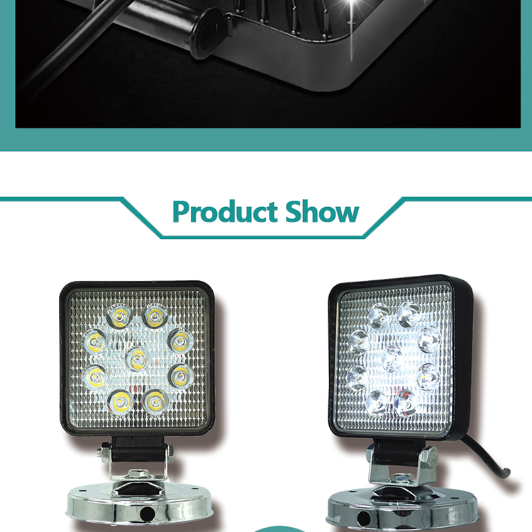 High power good quality led offroad lights square offroad lights led motorcycle