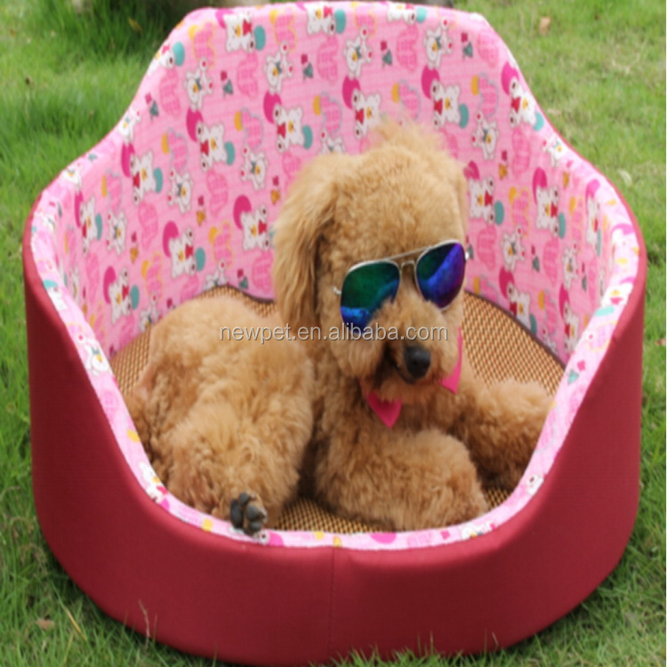 Good quality professional collapsible round sofa bed car shape plush dog bed