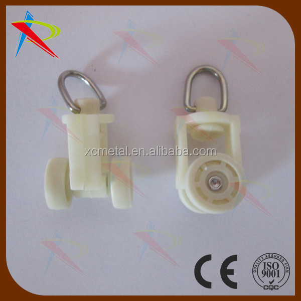 Plastic White Curtain Track Rollers Small Size