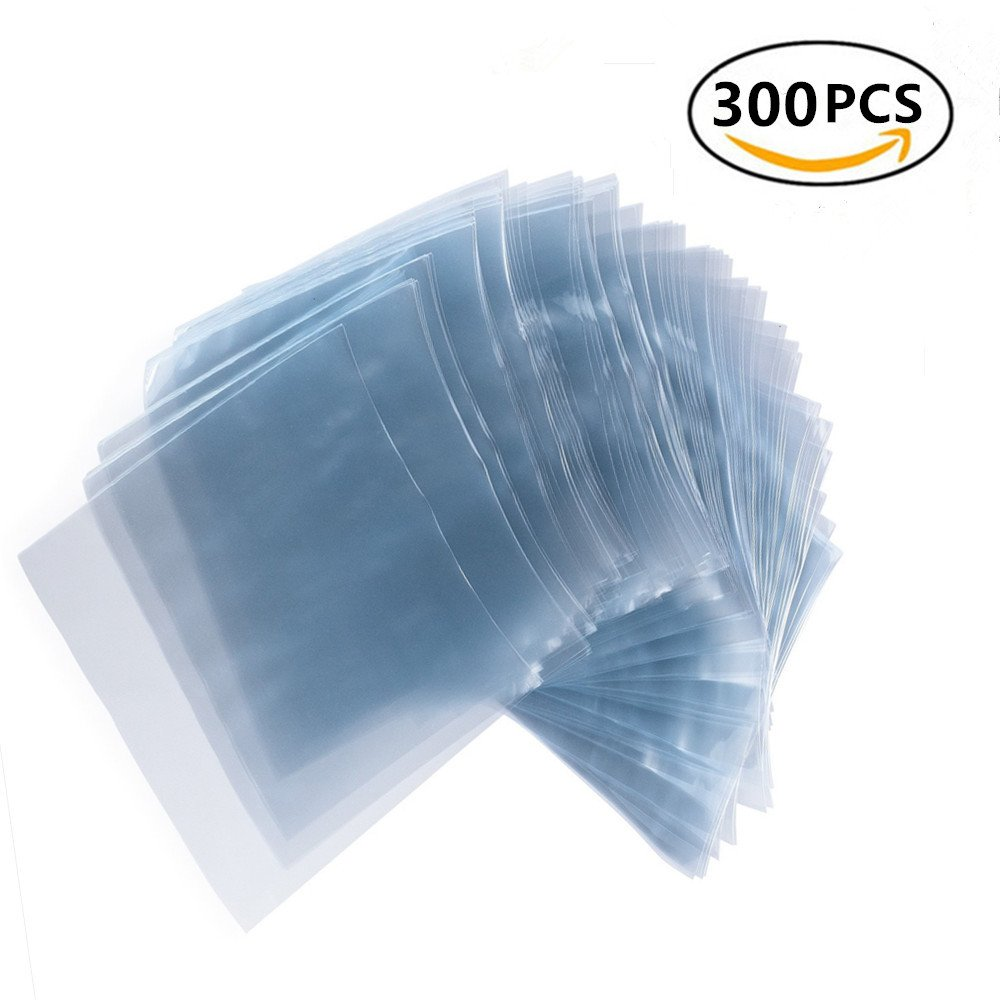 100 Pack 9x12 inch Odorless PVC Heat Shrink Wrap Bags Clear 100 Guage
