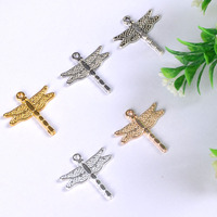 Manufacturer fashion zinc alloy colors plated dragonfly charm