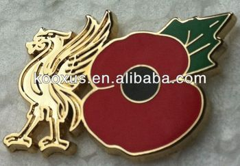 Liverpool Gold Liverbird And Poppy Enamel Pin Poppy Pin - Buy Poppy  Pin,Poppy Enamel Pin,Poppy Pin Product on Alibaba com