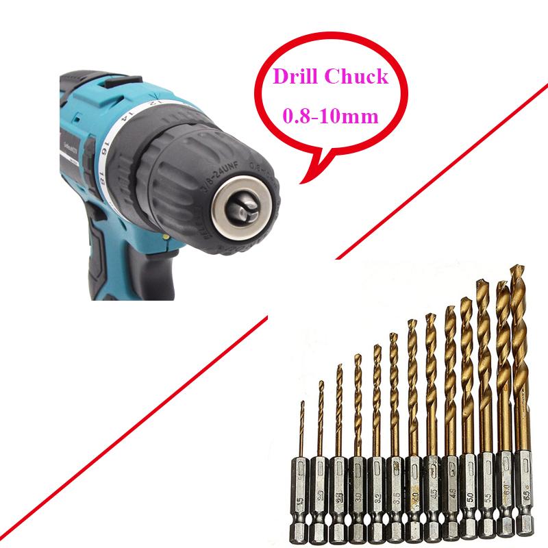 21ボルト追加のリチウム-イオンバッテリーコードレス電動ハンドドリル穴電気ドライバードライバーレンチ工具