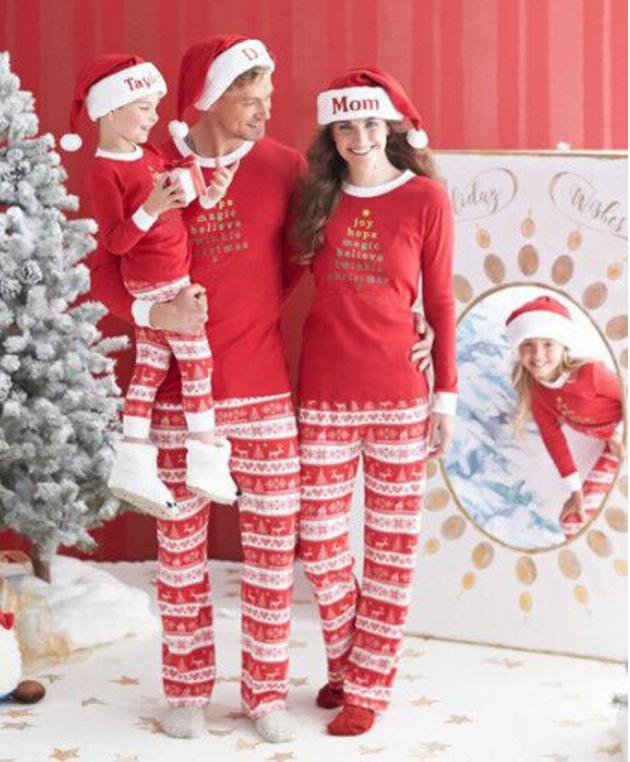 Mode Erwachsene Kinder Weihnachten Pyjamas Familie Passende Pyjamas ...