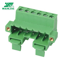 Wire to wire mini DIN rail screw clamp pluggable terminal block