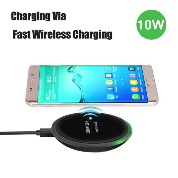 Choetech charger 10W QI Wireless Charger Pad fast changing with type c cable
