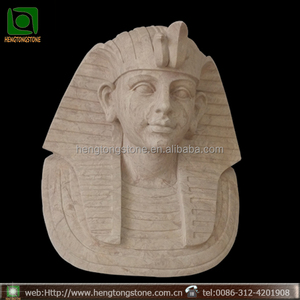 Egyptian Pharaoh Bust Stone Hang wall sculptures