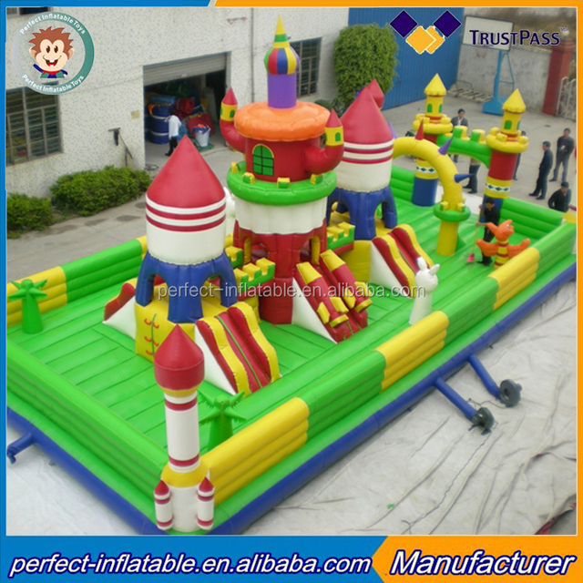 Playground Big Inflatable Toys Childrenu0027s Inflatable Land City Colorful  Inflatable Castle For Kids