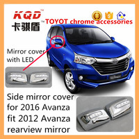 LED mirror cover chrome side mirror cover for toyota avanza 2016