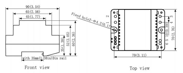 kbe6023 d  12v 24v ac or dc output 30va din rail