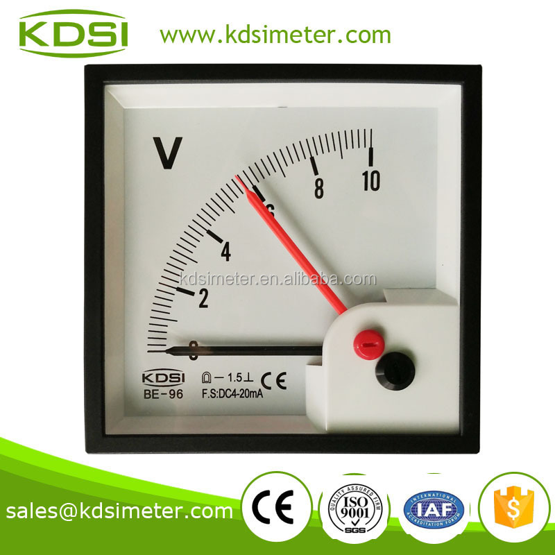 20 Year Top Manufacturer of CE,ISO passed BE-96 DC4-20mA 10V double pointer voltmeter motorcycle