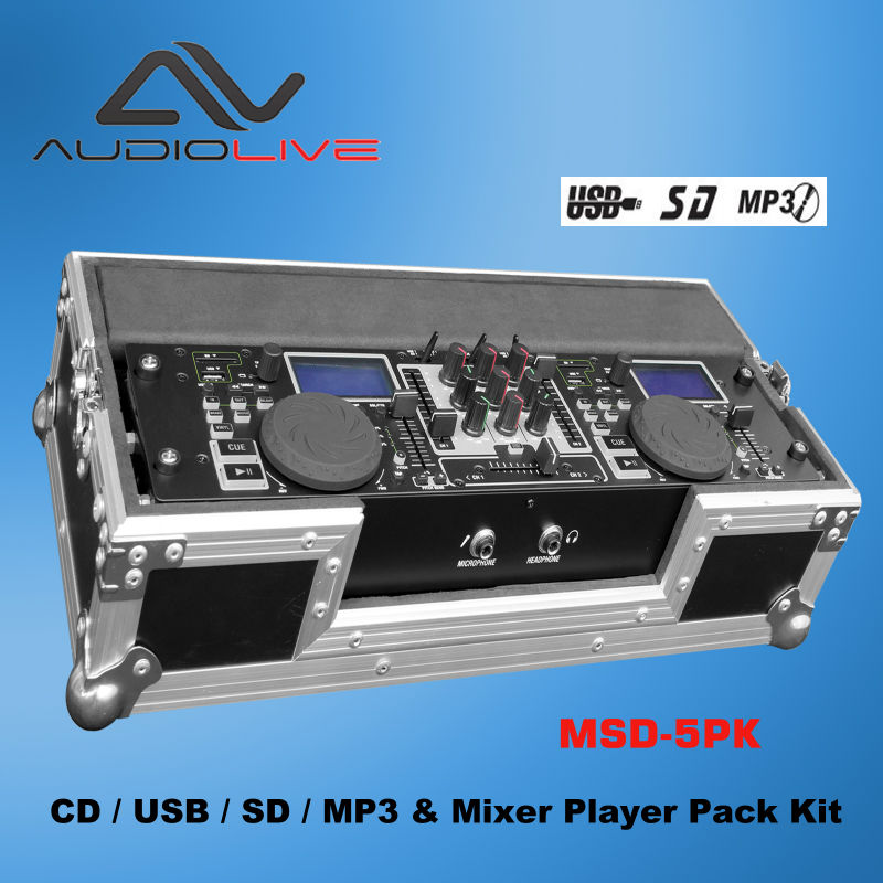 MSD-5 cd player with DJ Mixer/ USB portable cd player